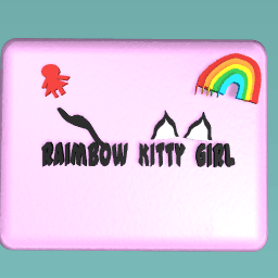 Raimbow Kitty Girl's logo's