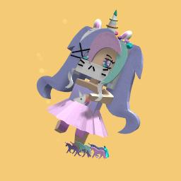 Unicorn color girl