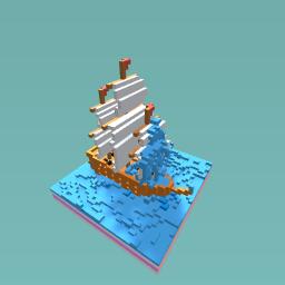 A ship soaked