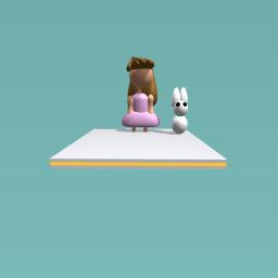 Girl+ Bunny