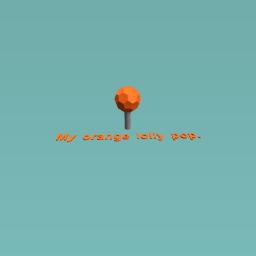 Orange lolly pop