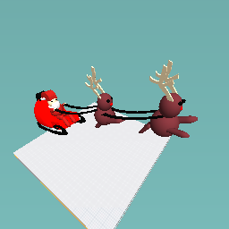 Santa and his raindeer