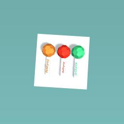three different lollipops :)