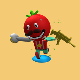 tomato head from fortnite with golden scar