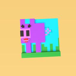 Pretty purple pig