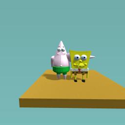Patrick Star meets SpongeBob Squarepants