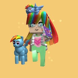 Full Rainbow Dash fan OUTFIT PEICE