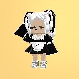 """Me in maid outfit ig? The dress is by """"Shoto todoroki16"""""""