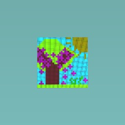 Pixel art Cherry blossem tree