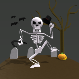 The dancing skeleton Benny!!