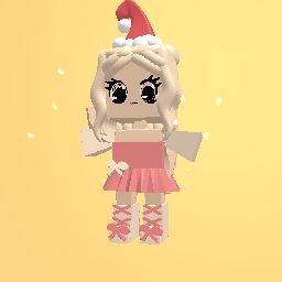 Cute christmas girl FREE for 1000 likes