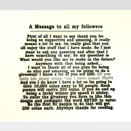 A Message to all my followers