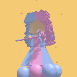 Blue and Pink Girl