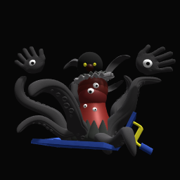 Nightmare clown's true form