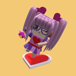 Pink Heart Girl