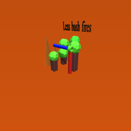 Less bush fires