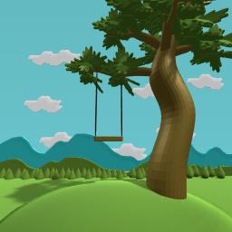 Swing on a hill
