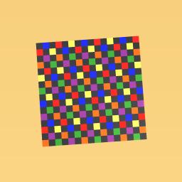 raindow checkers board