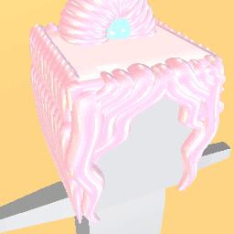 Hair bun in bubble gum pink