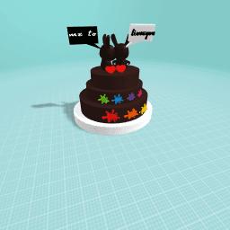 love cake kiss