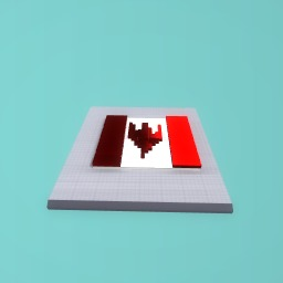 Tried to do the canadian flag the angle was wrong though