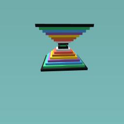 Rainbow double pyramid