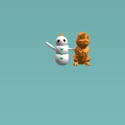 Snowman and freinds