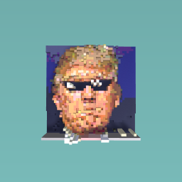 President Donald Trump with pixel shades on.