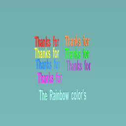 Thanks For making Maker's empire using in rainbow colors