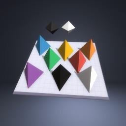 Tis is a rainbow piramid