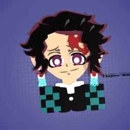 tanjiro demon slayer !OMG as my drawing