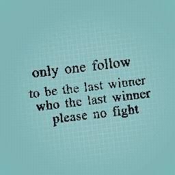 only one follow