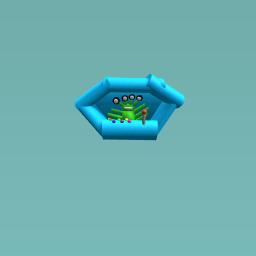 Alian in flying saucer