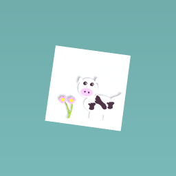 an animated cow