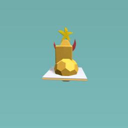 The golden rocket ship