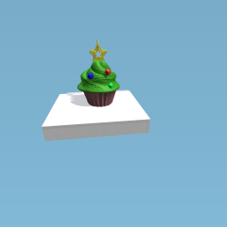 Chrismas tree cupcake ornament