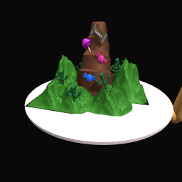 The chocolate waterfall
