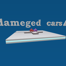 dameged cars!