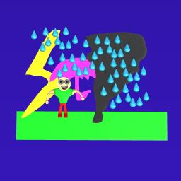 Baldi in the rain