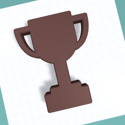 Chocolate trophy