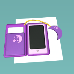 pink phone with purple case