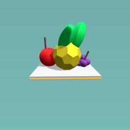 Apple, Pineapple and Grapes