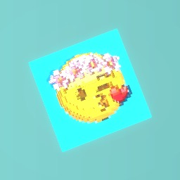 Blowing heart emoji