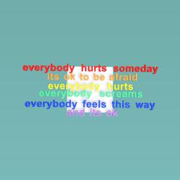 everybody hurts (Avril Lavigne)
