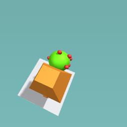 Rocket man with a apple tree