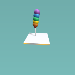 Rainbow lollypop