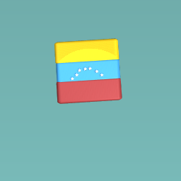 Venezuela flag with paint