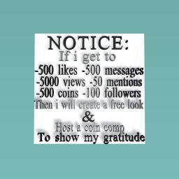 BIG NOTICE-PLEASE READ!