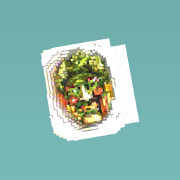 Its a face made out of food