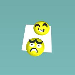 My happy and sad face